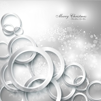 Silver Merry Christmas background
