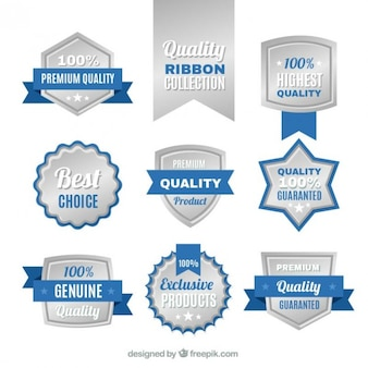 Silver quality badges