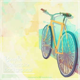 Simpe watercolor background with bicycle
