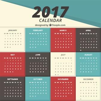 Simple 2017 calendar