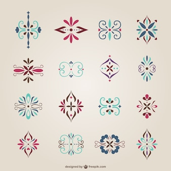Simple arabic style ornaments