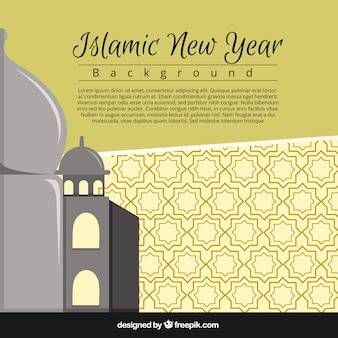 Simple background of islamic new year