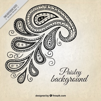 Simple background with paisley detail