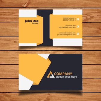 Simple black and yellow business card
