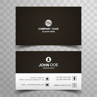 Simple black business card