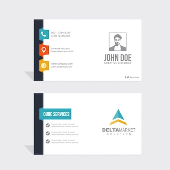 Simple business card with contact information