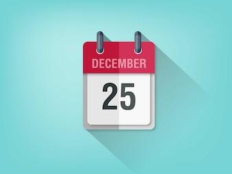 Simple calendar on light blue background