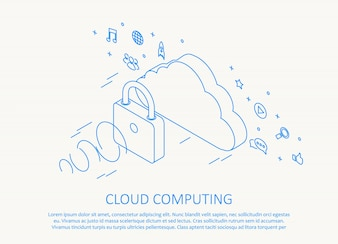 Simple cloud computing background
