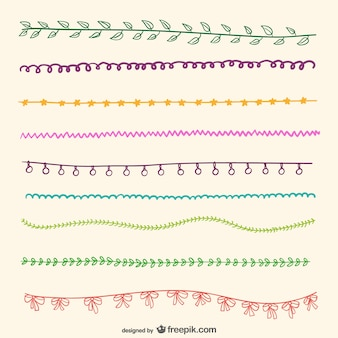 Simple drawn bunting
