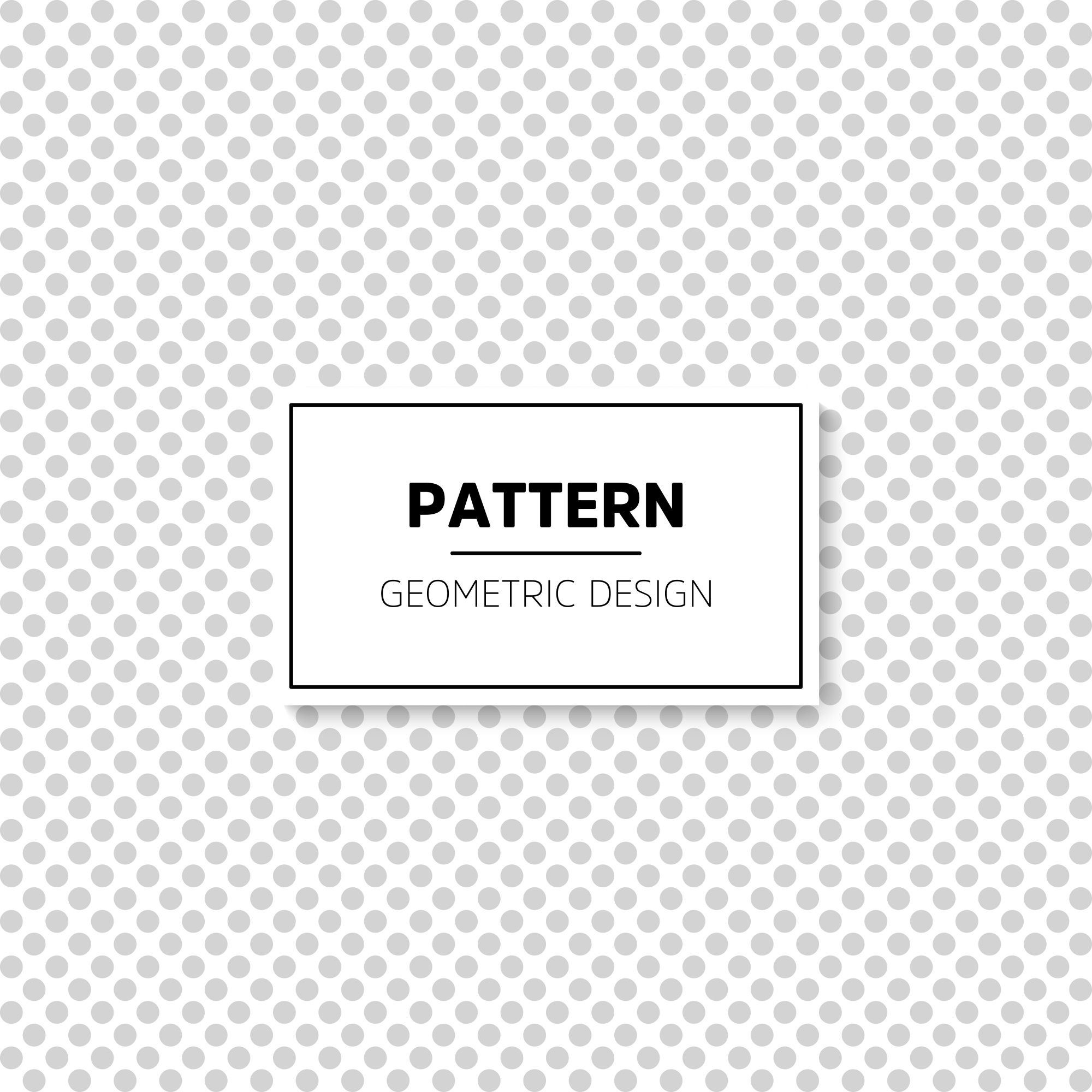 Simple grey dots pattern