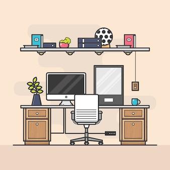 シンプルなホームオフィス