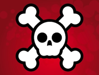 simple illustration Pirate skull flag vector
