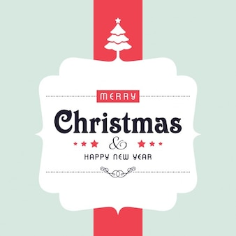 Simple label for christmas