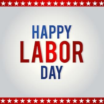 Simple labor day illustration