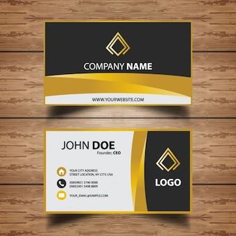 Simple luxury business card