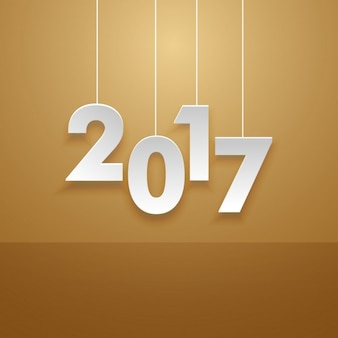 Simple new year 2017 background