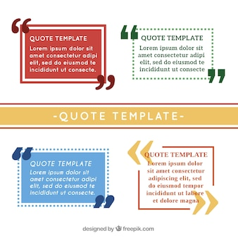 Simple quote templates