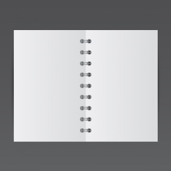 Simple small notepad, mockup