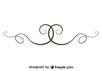 Simple Swirl Text Divider Vector Element