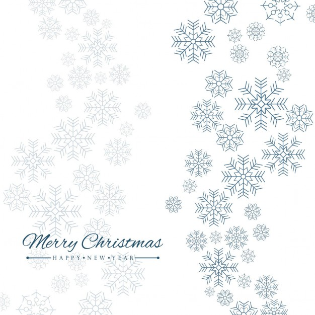 Simple white background with snowflakes