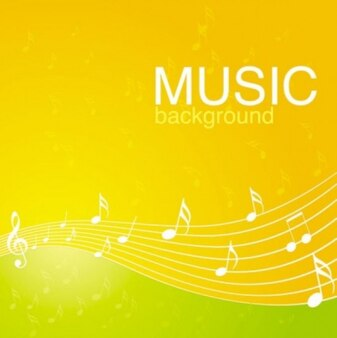 Simple yellow and green clean music background abstract