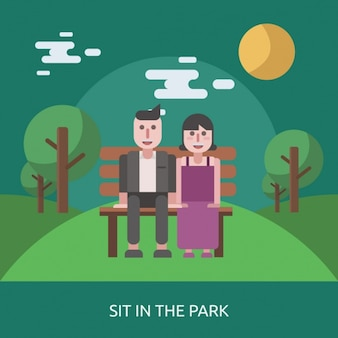 Sit in the park
