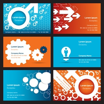 Six business cards