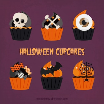 Six creepy cupcakes for halloween