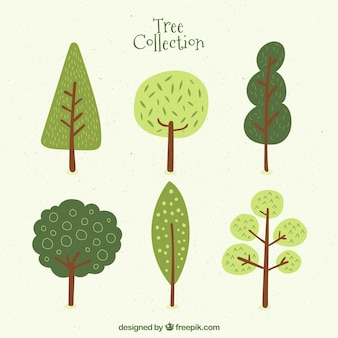 Six cute trees