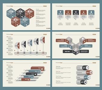 6つの経済学スライドテンプレートセット