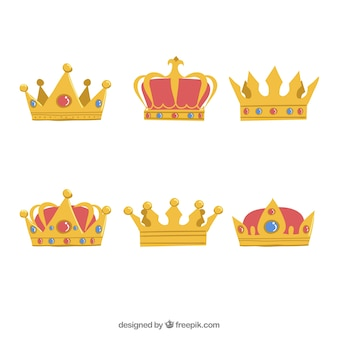 Six of beautiful crowns