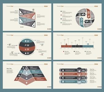 6つの計画図スライドテンプレートセット