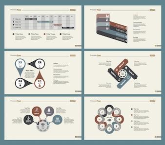 Six Planning Slide Templates Set