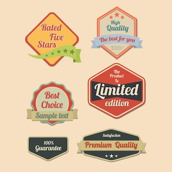 Six retro labels