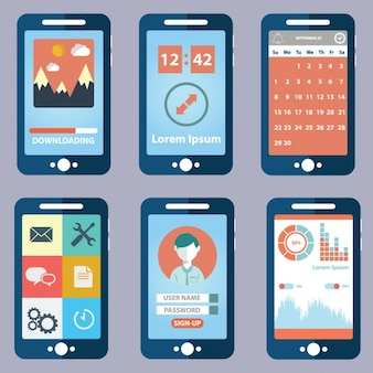 Six views of mobile application