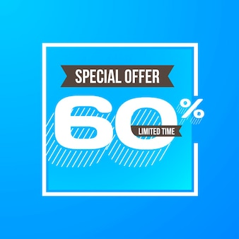 Sixty percent discount background design