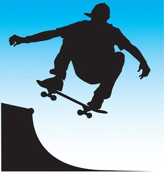 Skater Front Side Air Vector.