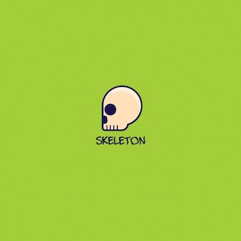 Skeleton logo on green background