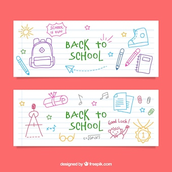 Sketch banners back to school