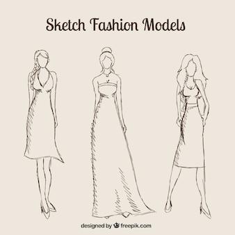 Sketch fashion models