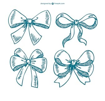 Sketched bows collection