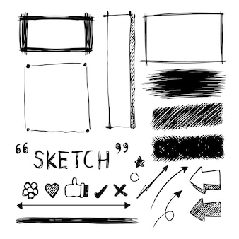 Sketched decorative elements