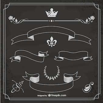 Sketched ribbons