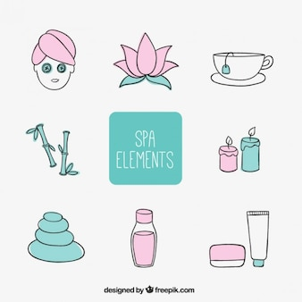 Sketched spa elements