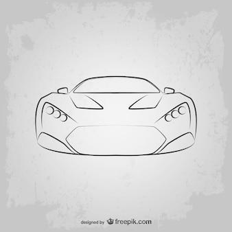 Sketched sport car