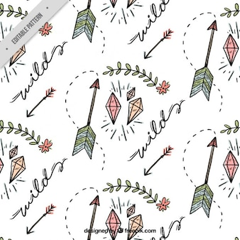 Sketches arrows and diamonds pattern