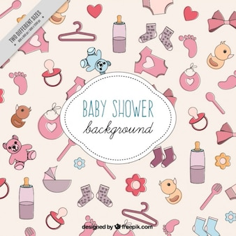 Sketches baby elements background