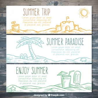 Sketches beach banners