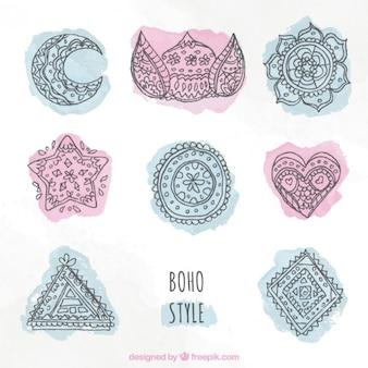 Sketches beautiful boho elements
