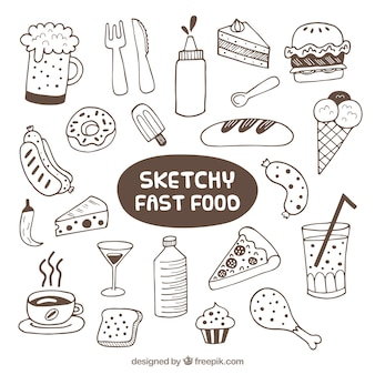 Sketches fast food collection